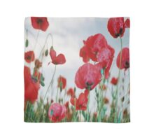 Field of Poppies Against Grey Sky  Scarf
