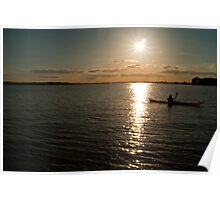 Sundown over Poole Harbour Poster