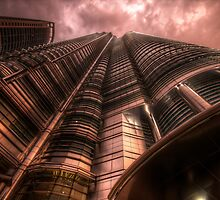 The View Of The Petronas Towers From Below by Jimmy McIntyre