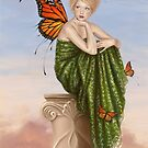 Sunrise Monarch Butterfly Fairy by Rachel Anderson