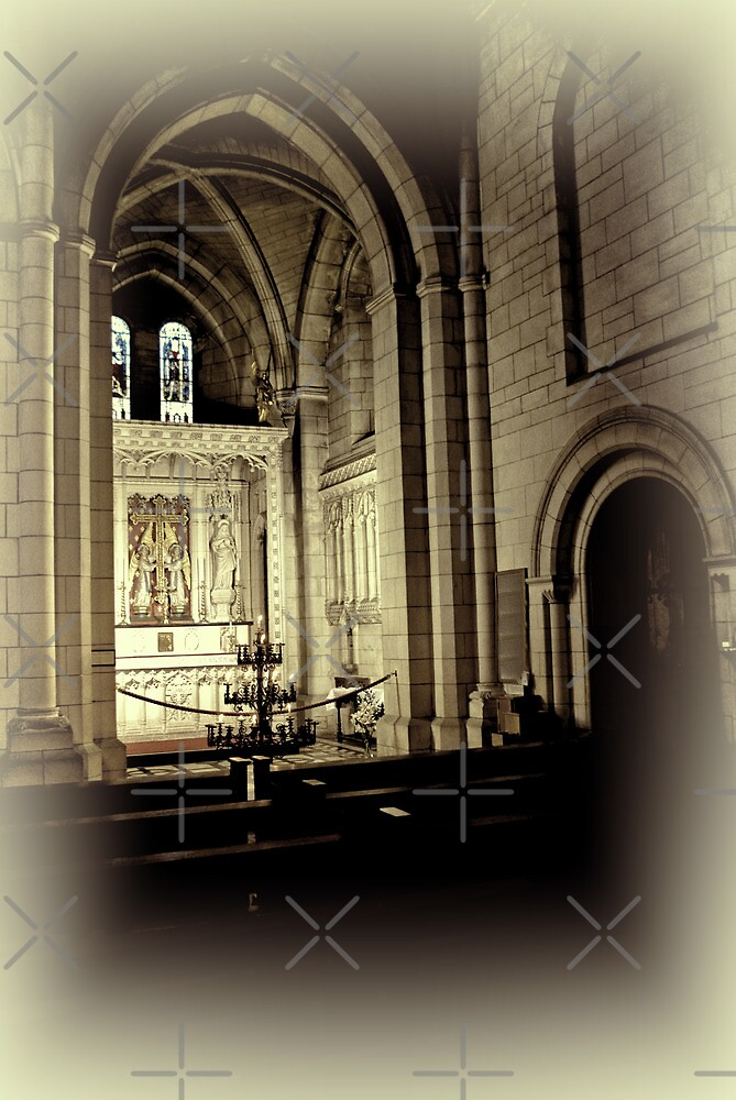 Candles at Buckfast Abbey by Catherine Hamilton-Veal  ©