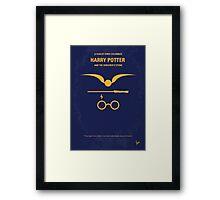 No101 My Harry Potter minimal movie poster Framed Print