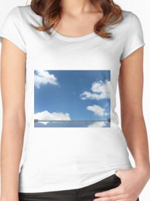 cloud mirror Women's Fitted Scoop T-Shirt