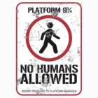 District 9 3/4 Platform Sign by KingBenneth