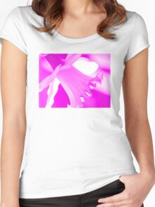 Pink Daffodil Women's Fitted Scoop T-Shirt