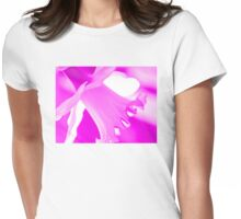 Pink Daffodil Womens Fitted T-Shirt