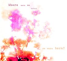 Where were you? by Elina  Cate