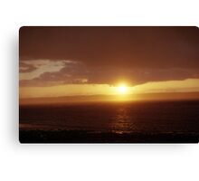 Llanfairfechan beach at sunset Canvas Print