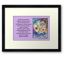 Poetry in Art - Embrace the Mystery Framed Print