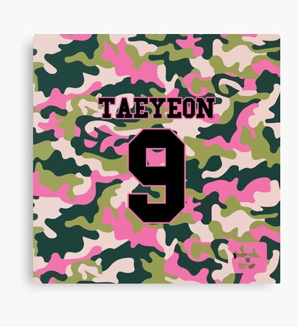 Girls' Generation (SNSD) Taeyeon 'PINK ARMY' Canvas Print