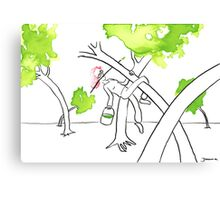 Spring is in the tree Canvas Print