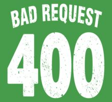 Team shirt - 400 Bad Request, white letters Baby Tee