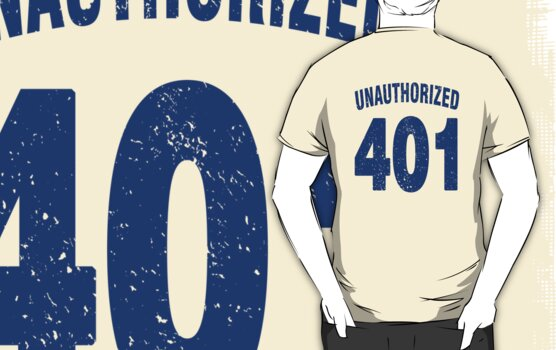 Team shirt - 401 Unauthorized, blue letters by JRon