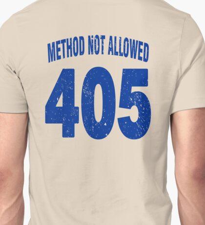 Team shirt - 405 Method Not Allowed, blue letters Unisex T-Shirt