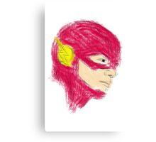 The Flash Sketch Canvas Print
