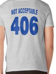 Team shirt - 406 Not Acceptable, blue letters Mens V-Neck T-Shirt