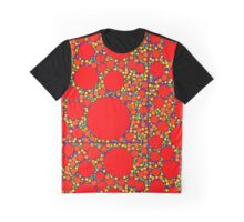 Random Tiling Red Graphic T-Shirt