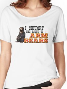 I Support the Right to Arm Bears, Sun Bears. Women's Relaxed Fit T-Shirt