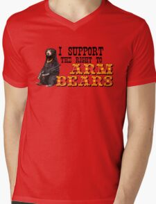 I Support the Right to Arm Bears, Sun Bears. Mens V-Neck T-Shirt