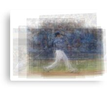 Jose Bautista Swing Bat Flip Canvas Print