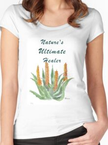 Aloe ferox - Nature's Ultimate healer  Women's Fitted Scoop T-Shirt