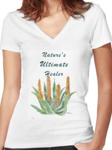 Aloe ferox - Nature's Ultimate healer  Women's Fitted V-Neck T-Shirt