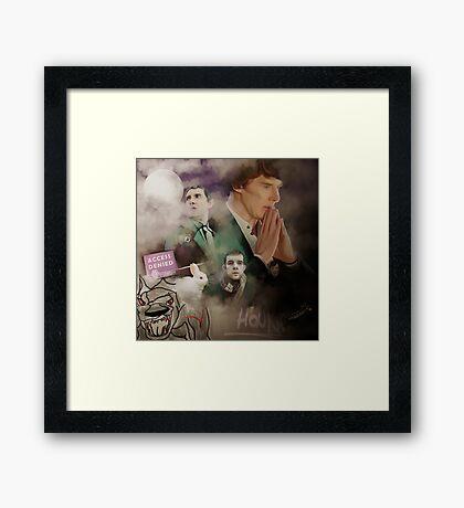 The hounds of Baskerville Framed Print