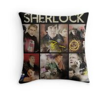 Seasons . Sherlock Throw Pillow