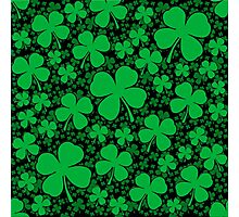 A Shamrock Field for St Patrick's Day Photographic Print