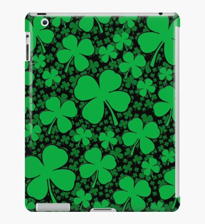 A Shamrock Field for St Patrick's Day iPad Case/Skin