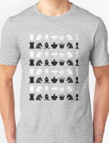 Chess Pieces Pattern Unisex T-Shirt