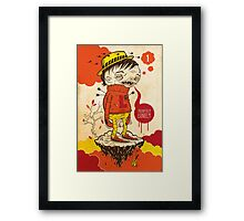 LONELY BOY Framed Print