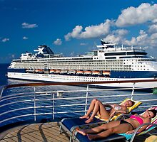 Lounging on deck. by Jerry Philpot