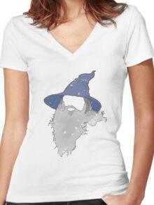 Gandalf Women's Fitted V-Neck T-Shirt
