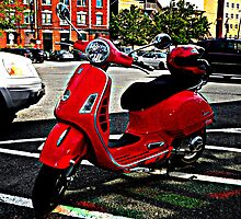 Red Vespa  by Amanda Vontobel Photography/Random Fandom Stuff