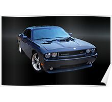 Dodge Challenger Blackbird SR71 Poster