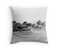 Out For A Swim With The Kids Throw Pillow