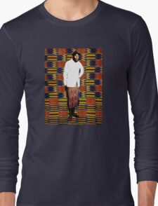 Mos Def in Kente Cloth Long Sleeve T-Shirt
