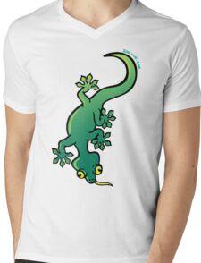 Gecko Mens V-Neck T-Shirt