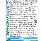 """Love Life"" - Illuminated Calligraphy by Johanus Haidner"