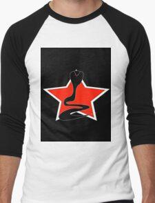 Cobra With Red Star Men's Baseball ¾ T-Shirt
