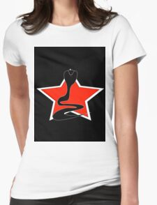 Cobra With Red Star Womens Fitted T-Shirt