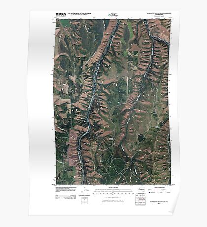 USGS Topo Map Washington State WA Robinette Mountain 20110406 TM Poster
