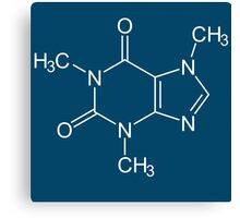 Caffeine molecule is fun Canvas Print