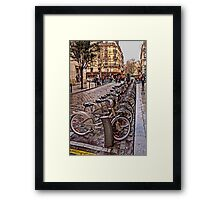 Paris Wheels for Rent Framed Print