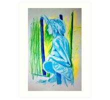 """""""Lady Cool"""" - Nude Female Sitting on Chair Art Print"""