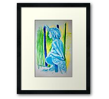 """""""Lady Cool"""" - Nude Female Sitting on Chair Framed Print"""