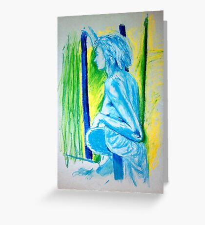 """""""Lady Cool"""" - Nude Female Sitting on Chair Greeting Card"""