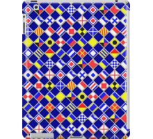 Checkered Nautical Signal Flags  iPad Case/Skin