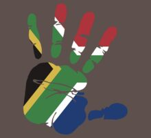 Flag of South Africa Handprint by rubina